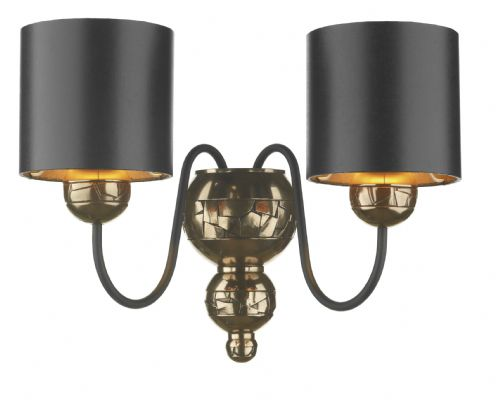 Garbo Bronze Hand-Made Wall Light with Black / Bronze shades GAR0973 (Class 2 Double Insulated)